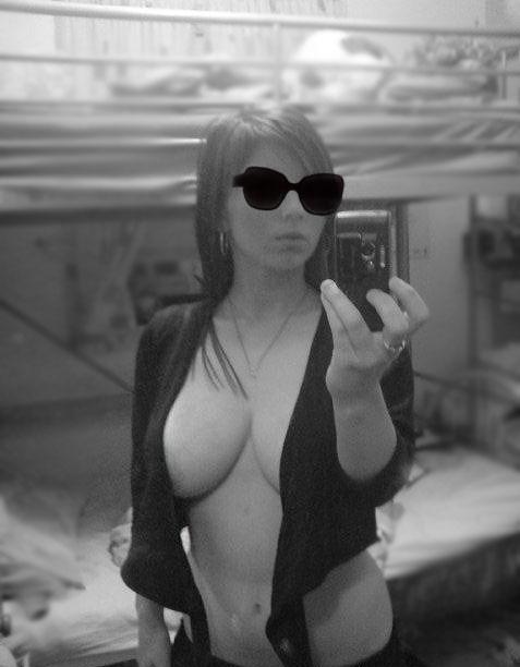 big tits black white
